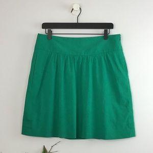 Theory Morra Emerald Mini Skirt